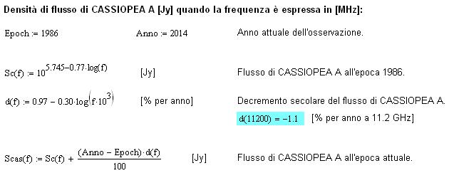 Calcolo dello spettro di Cassiopea A